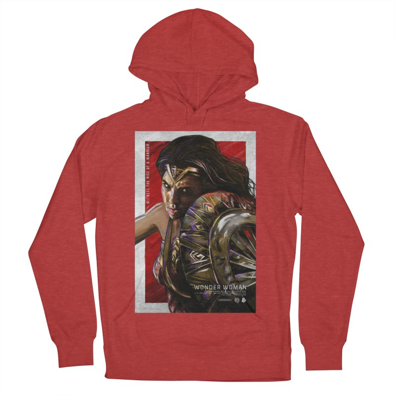 Wonder Woman (Red) Men's Pullover Hoody by Payback Penguin