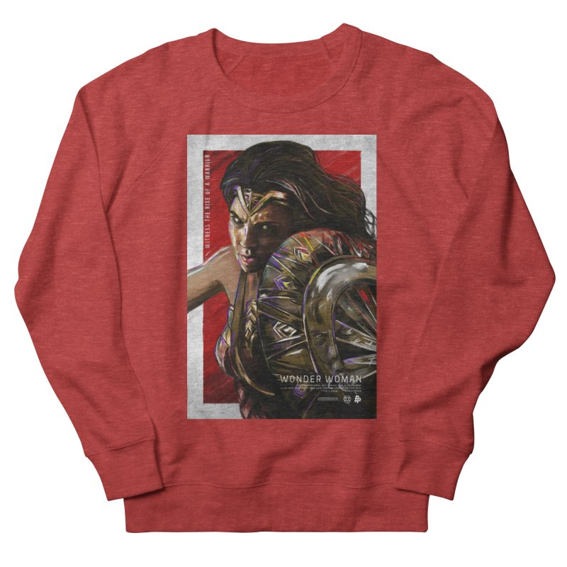 Wonder Woman (Red) Women's French Terry Sweatshirt by Payback Penguin