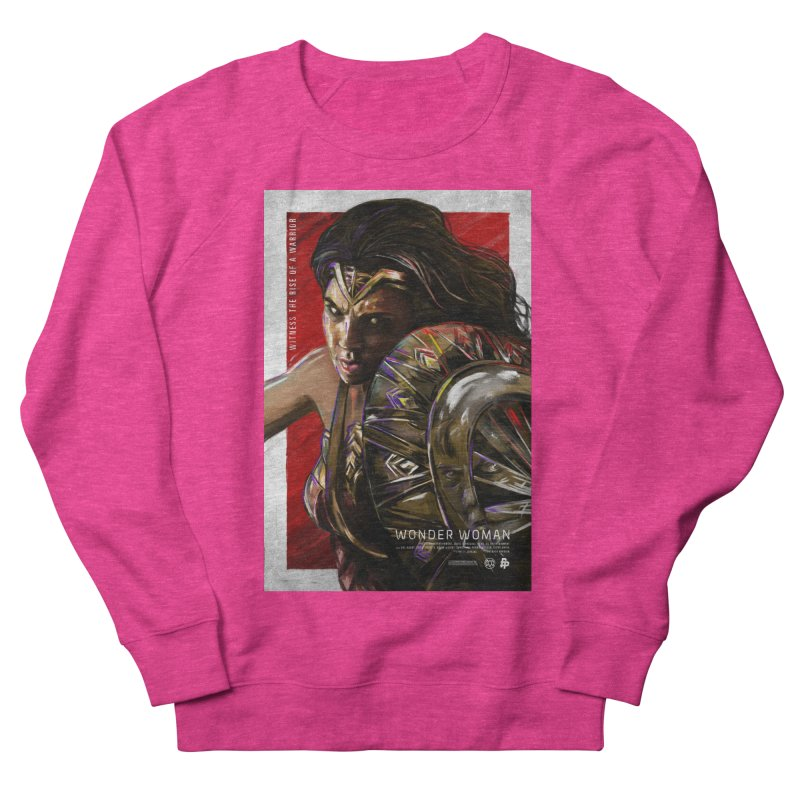 Wonder Woman (Red) Men's French Terry Sweatshirt by Payback Penguin
