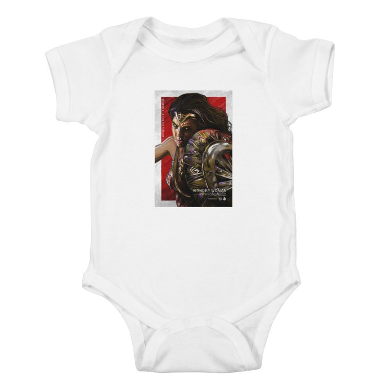 Wonder Woman (Red) Kids Baby Bodysuit by Payback Penguin