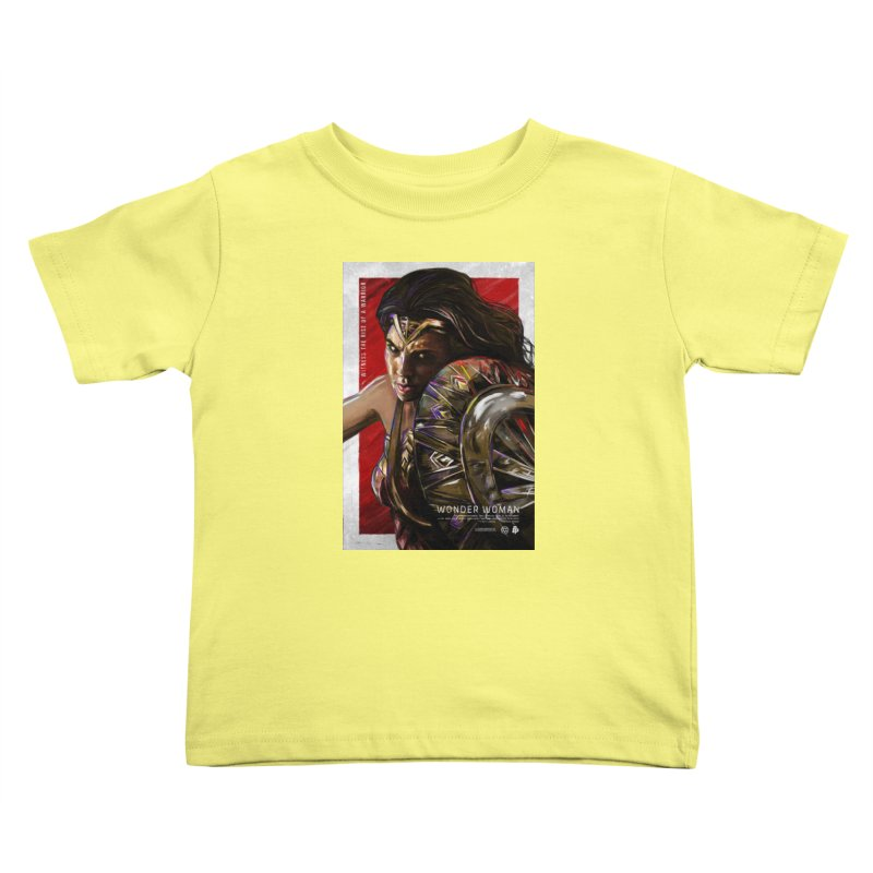 Wonder Woman (Red) Kids Toddler T-Shirt by Payback Penguin