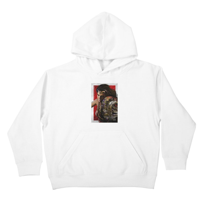 Wonder Woman (Red) Kids Pullover Hoody by Payback Penguin