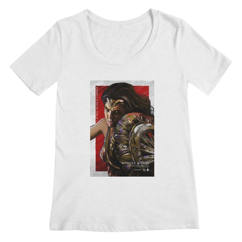 Wonder Woman (Red) Women's Regular Scoop Neck by Payback Penguin