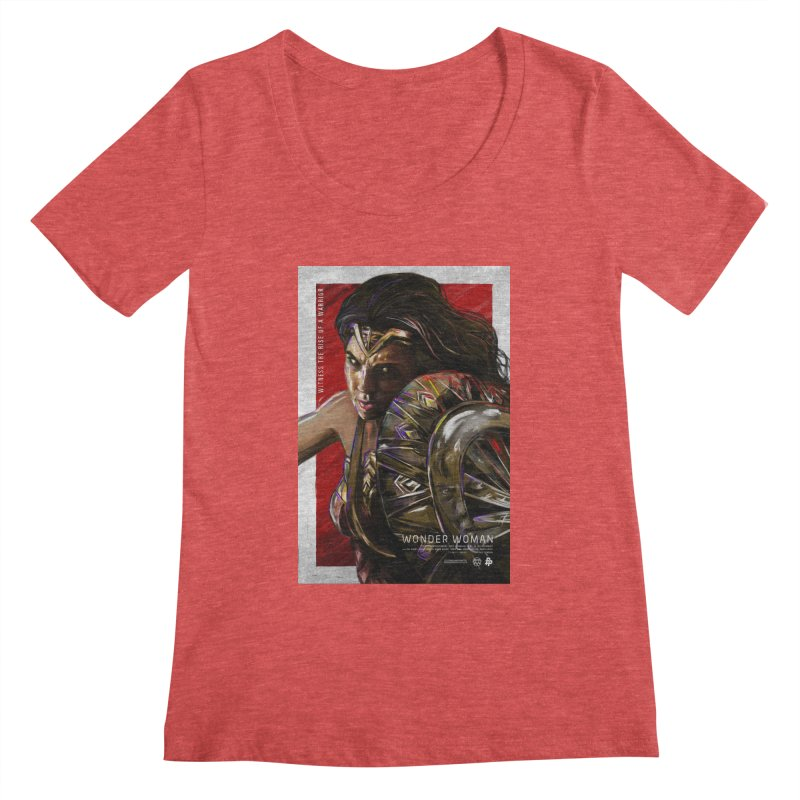 Wonder Woman (Red) Women's Scoopneck by Payback Penguin