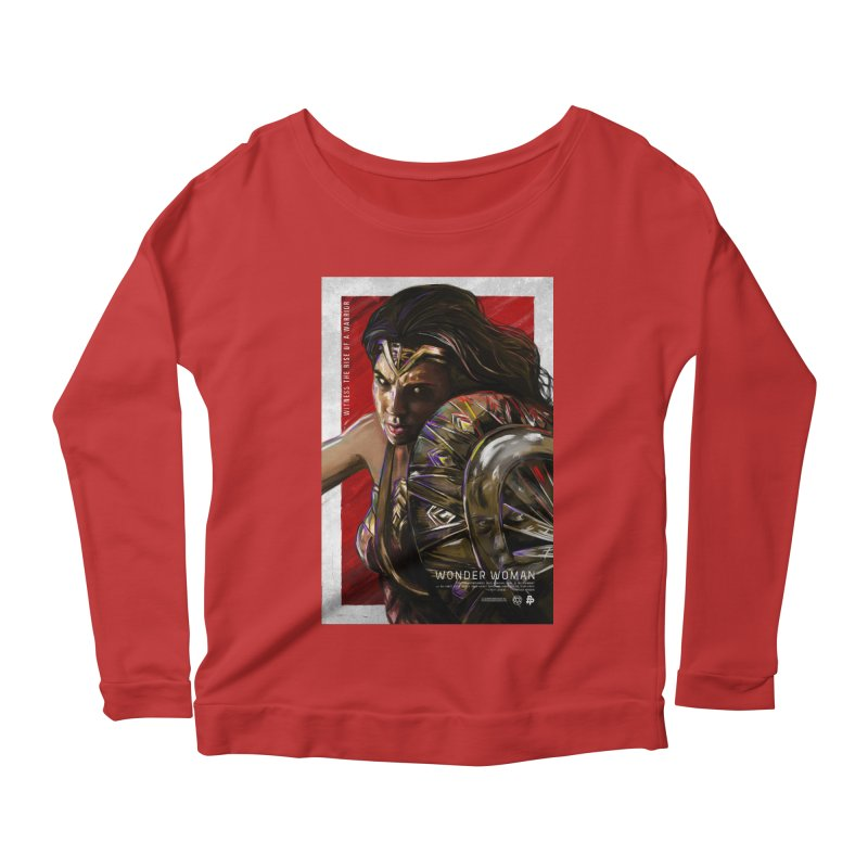 Wonder Woman (Red) Women's Longsleeve Scoopneck  by Payback Penguin