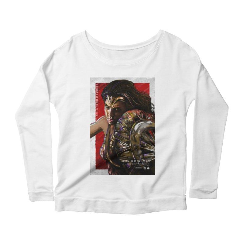 Wonder Woman (Red) Women's Scoop Neck Longsleeve T-Shirt by Payback Penguin