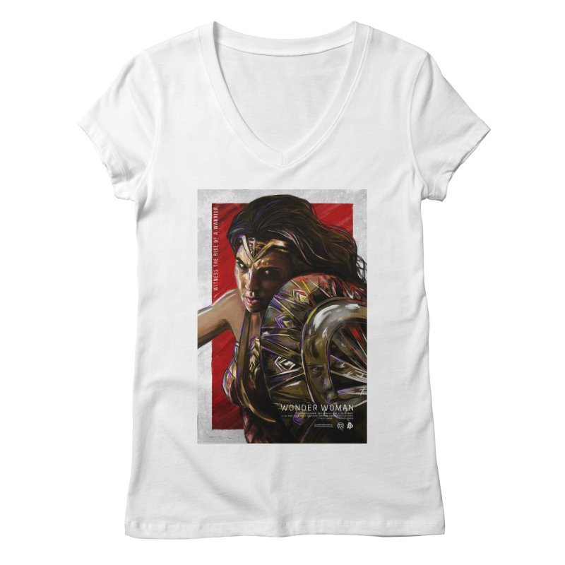 Wonder Woman (Red) Women's V-Neck by Payback Penguin