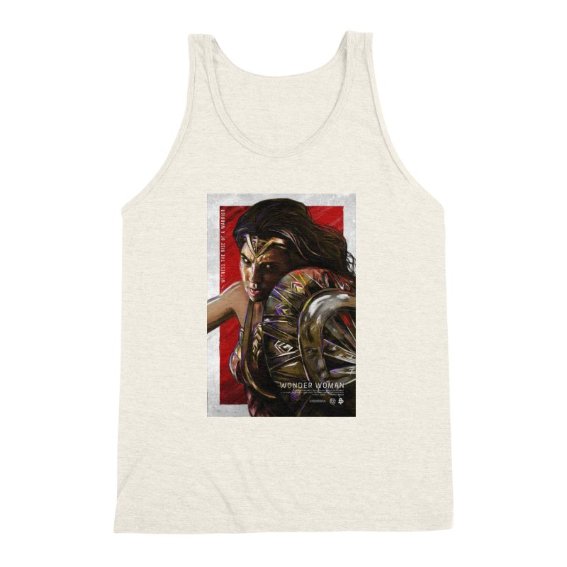 Wonder Woman (Red) Men's Triblend Tank by Payback Penguin