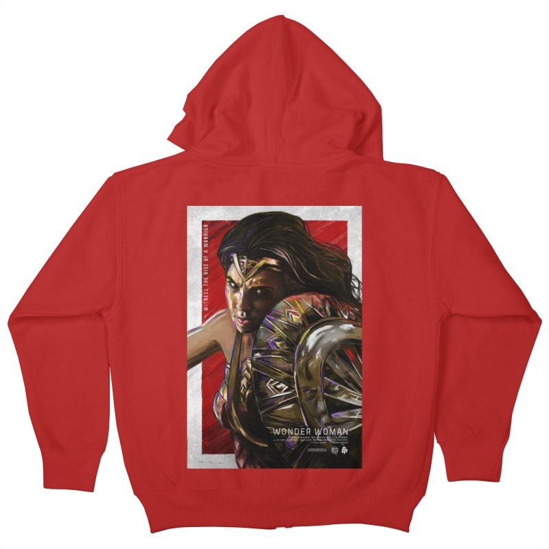 Wonder Woman (Red) Kids Zip-Up Hoody by Payback Penguin