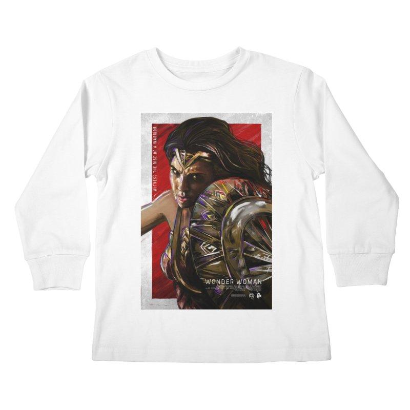 Wonder Woman (Red) Kids Longsleeve T-Shirt by Payback Penguin