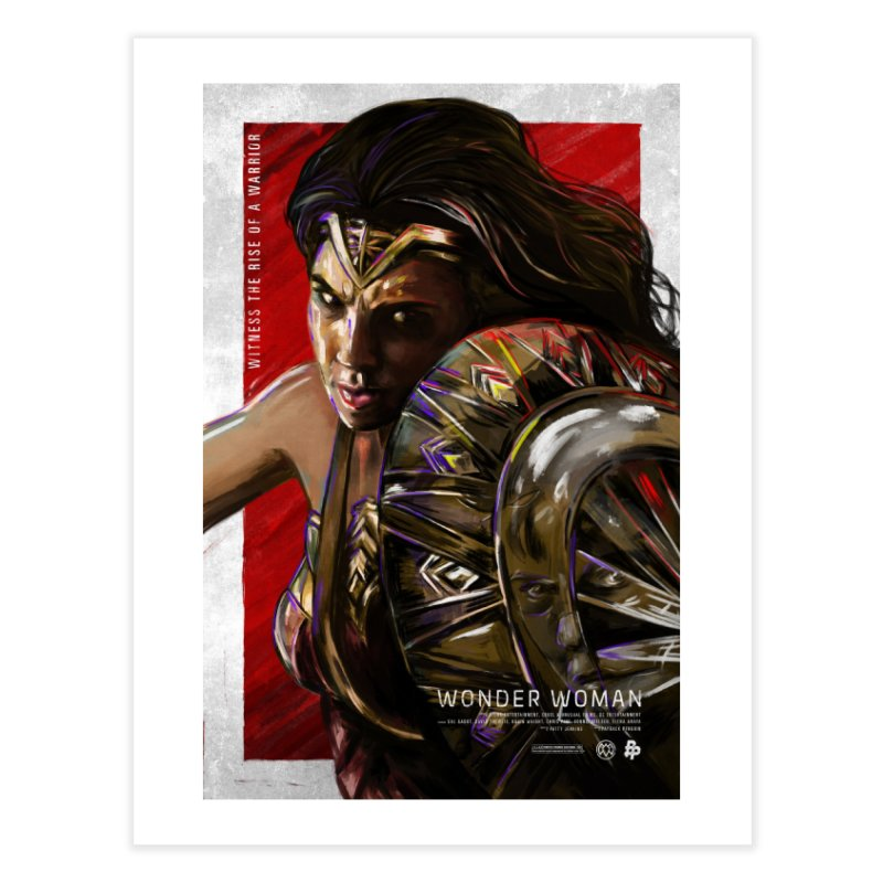 Wonder Woman (Red) Home Fine Art Print by Payback Penguin