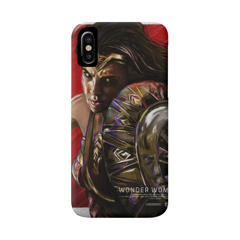 Wonder Woman (Red) Accessories Phone Case by Payback Penguin