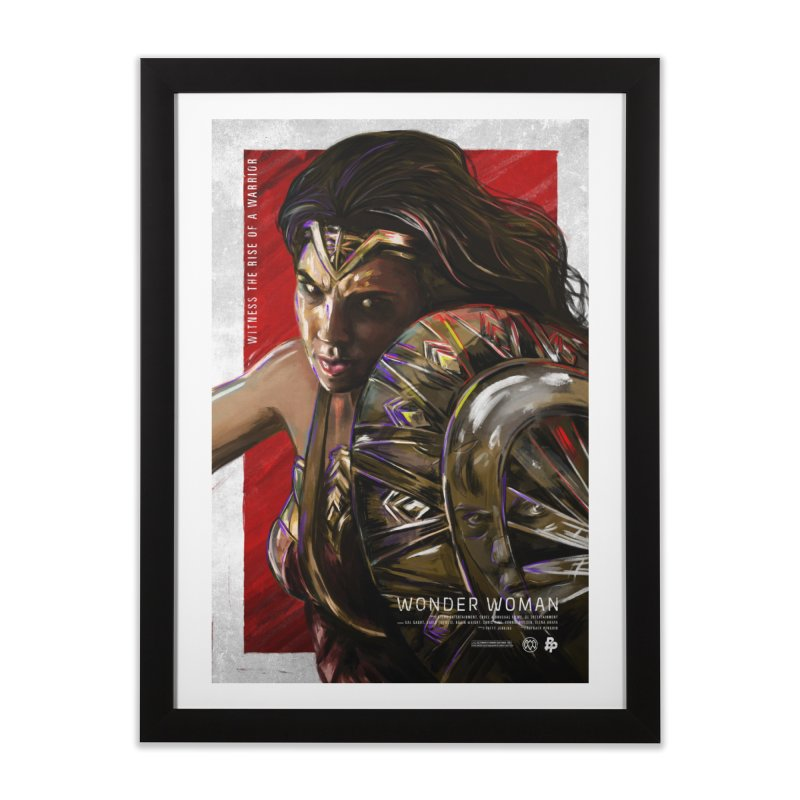 Wonder Woman (Red) Home Framed Fine Art Print by Payback Penguin