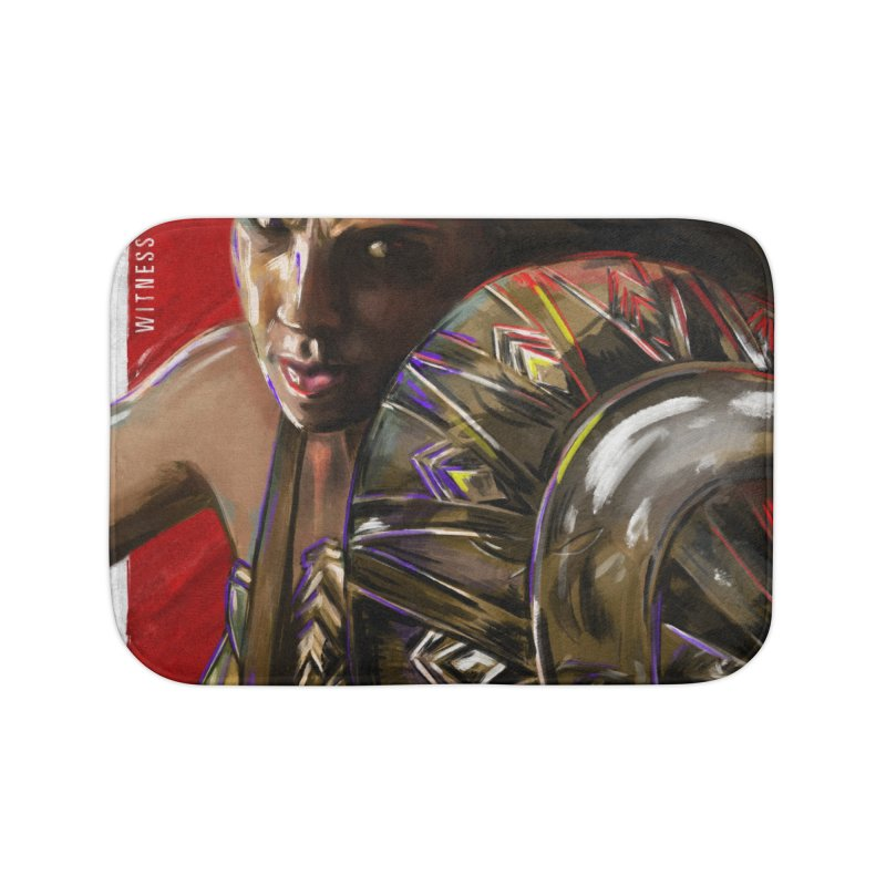 Wonder Woman (Red) Home Bath Mat by Payback Penguin
