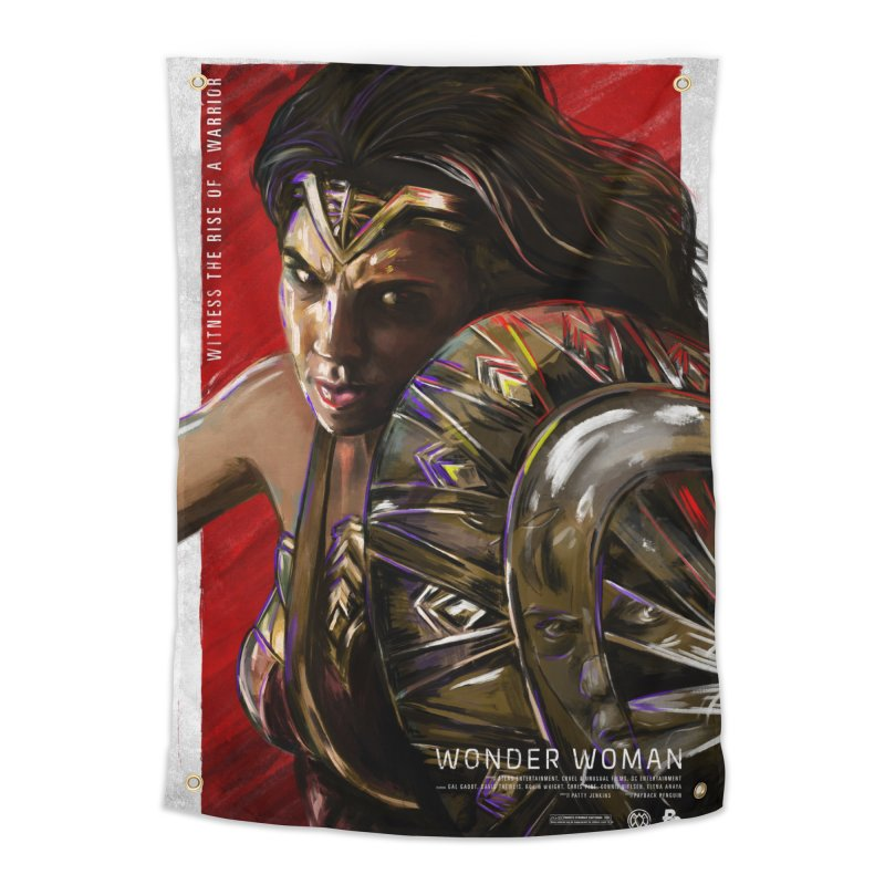 Wonder Woman (Red) Home Tapestry by Payback Penguin