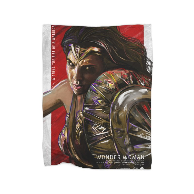 Wonder Woman (Red) Home Fleece Blanket by Payback Penguin