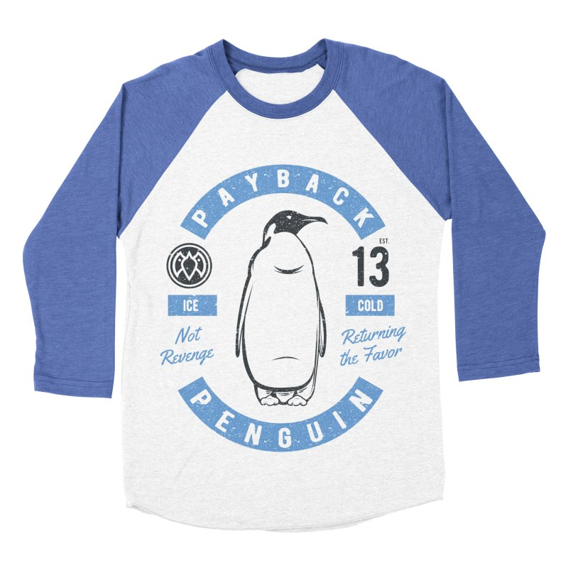 Ice Cold - Payback Penguin Men's Baseball Triblend T-Shirt by Payback Penguin