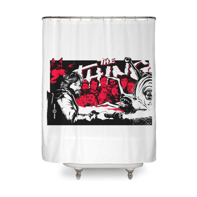 I Know I'm Human: Variant 1 Home Shower Curtain by Payback Penguin