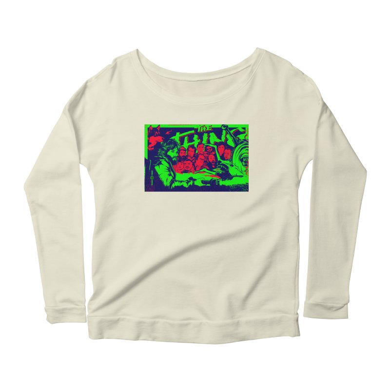 I Know I'm Human: Variant 2  Women's Longsleeve Scoopneck  by Payback Penguin