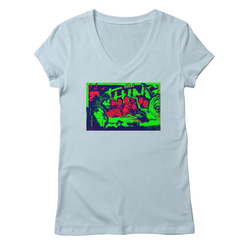 I Know I'm Human: Variant 2  Women's V-Neck by Payback Penguin