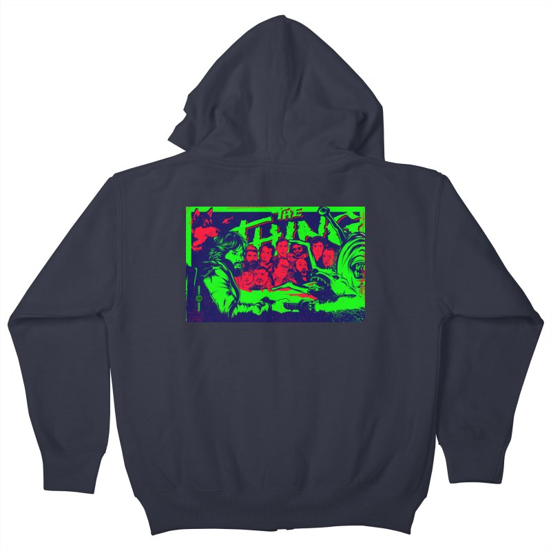 I Know I'm Human: Variant 2  Kids Zip-Up Hoody by Payback Penguin