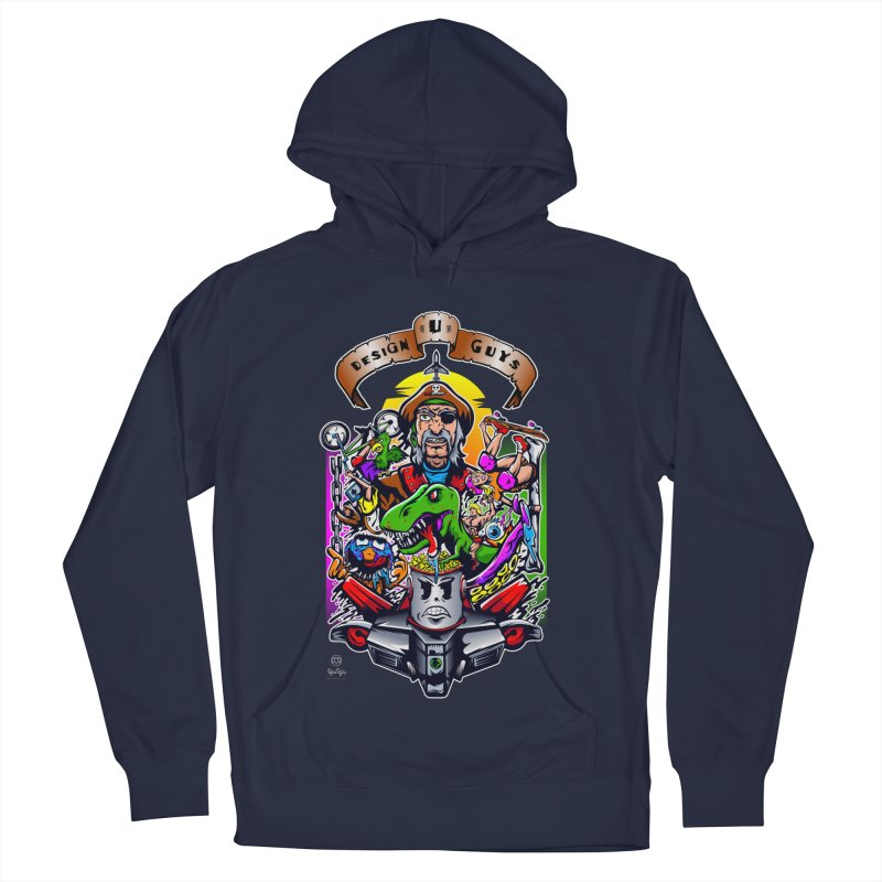 Design You Guys Men's French Terry Pullover Hoody by Payback Penguin