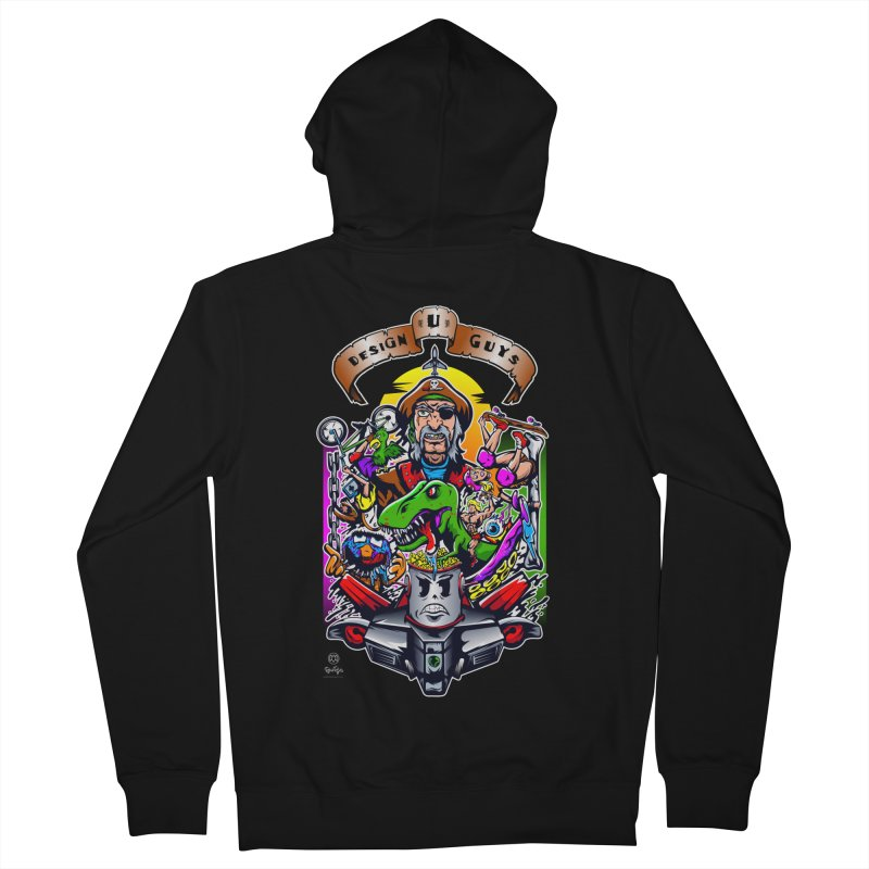Design You Guys Men's French Terry Zip-Up Hoody by Payback Penguin