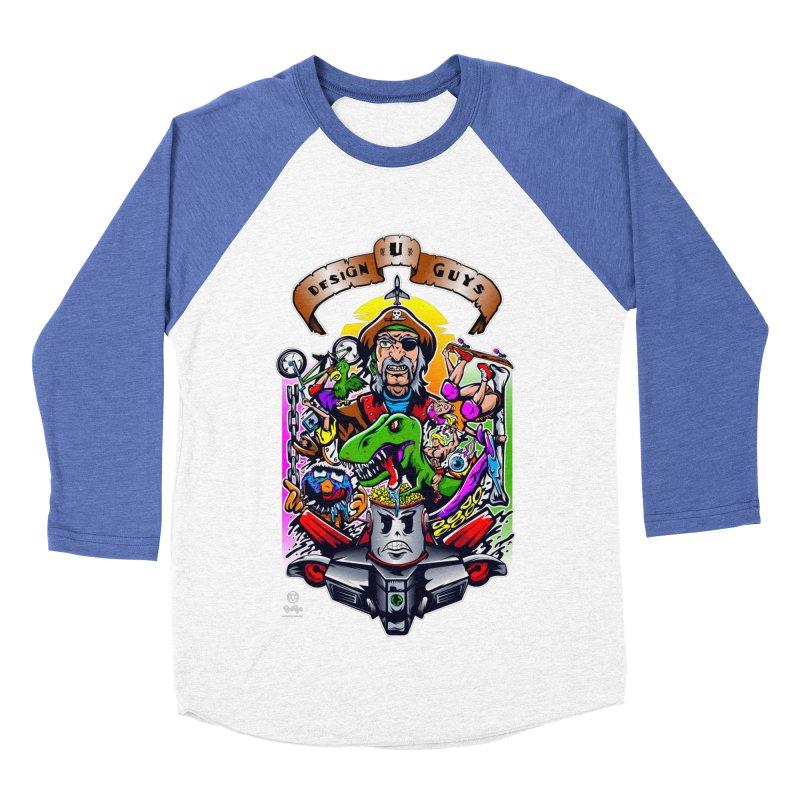 Design You Guys Women's Baseball Triblend Longsleeve T-Shirt by Payback Penguin