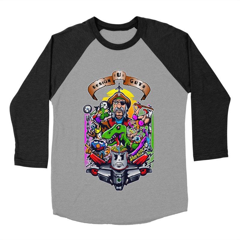 Design You Guys Men's Baseball Triblend T-Shirt by Payback Penguin