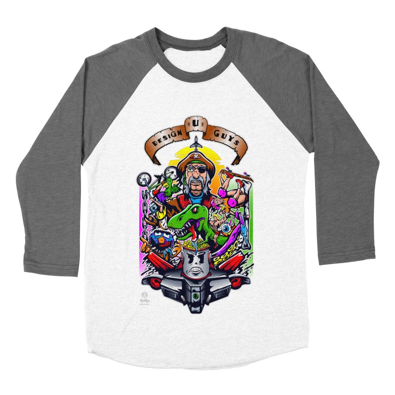 Design You Guys Men's Baseball Triblend Longsleeve T-Shirt by Payback Penguin