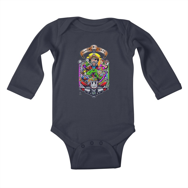 Design You Guys Kids Baby Longsleeve Bodysuit by Payback Penguin
