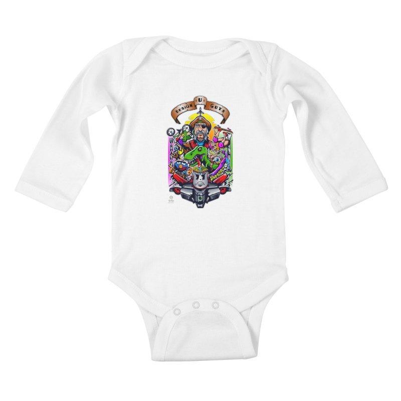 Design You Guys Kids Baby Longsleeve Bodysuit by Payback Penguin