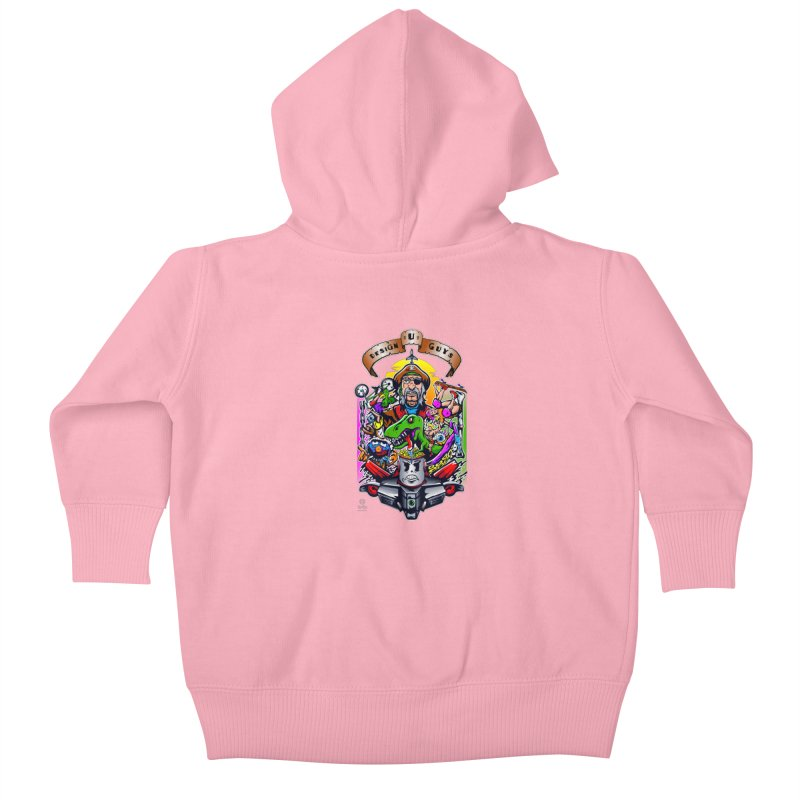 Design You Guys Kids Baby Zip-Up Hoody by Payback Penguin