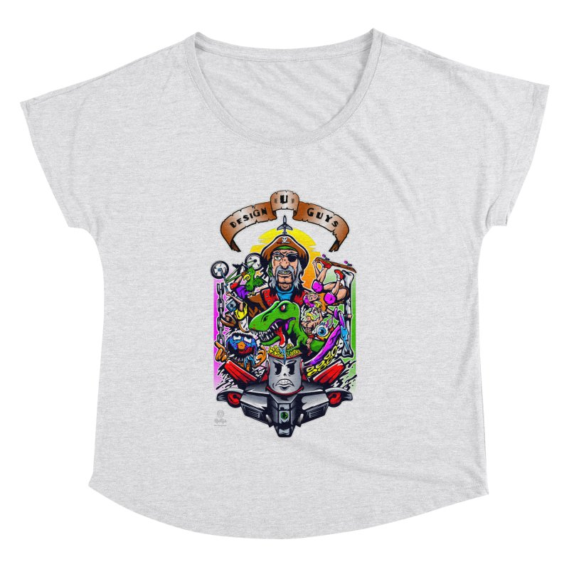 Design You Guys Women's Dolman Scoop Neck by Payback Penguin