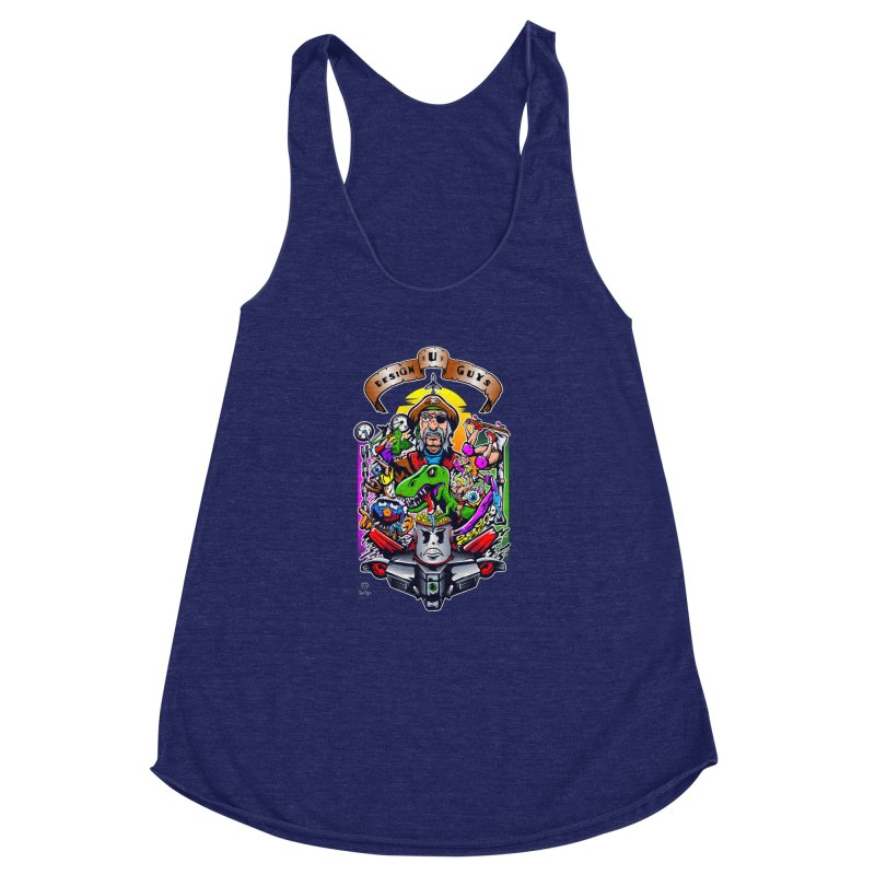 Design You Guys Women's Racerback Triblend Tank by Payback Penguin