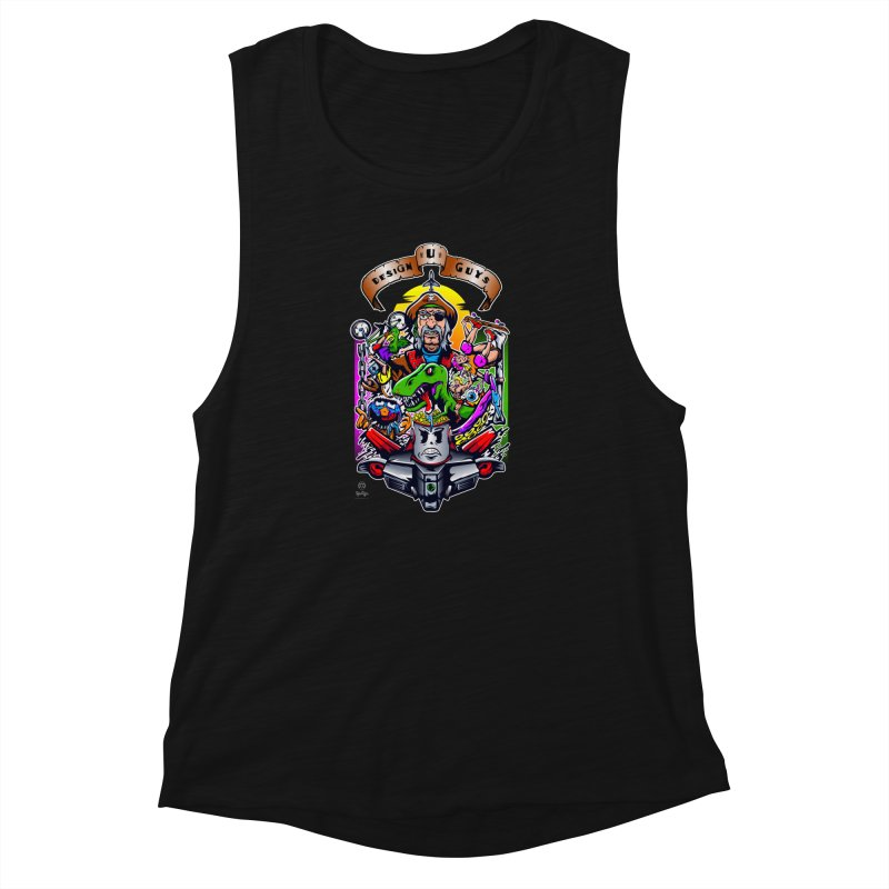 Design You Guys Women's Muscle Tank by Payback Penguin