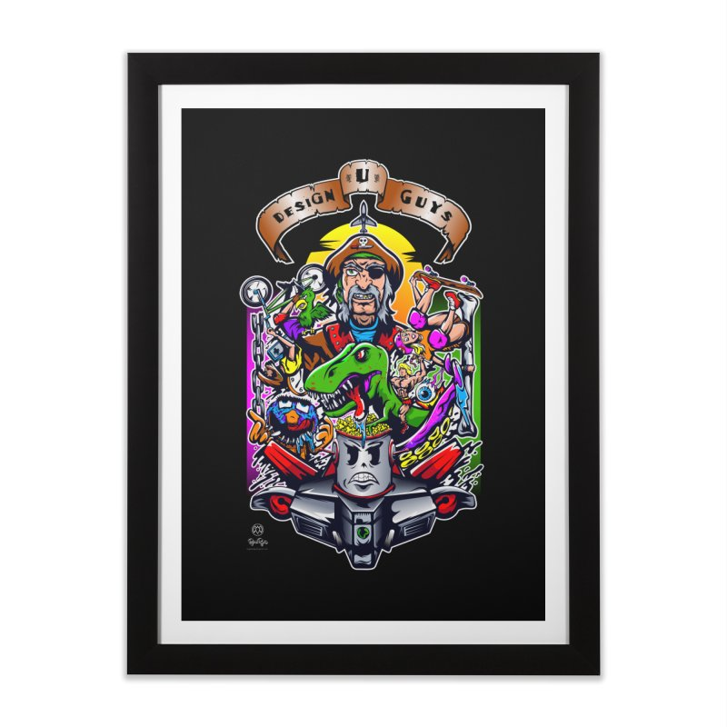 Design You Guys Home Framed Fine Art Print by Payback Penguin