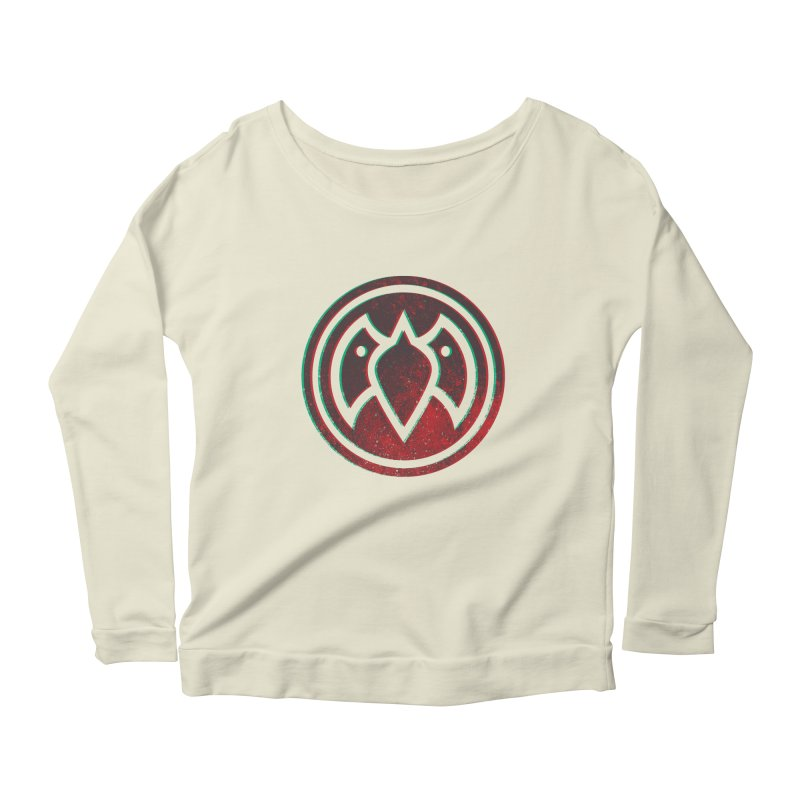3D Meatball Women's Longsleeve Scoopneck  by Payback Penguin