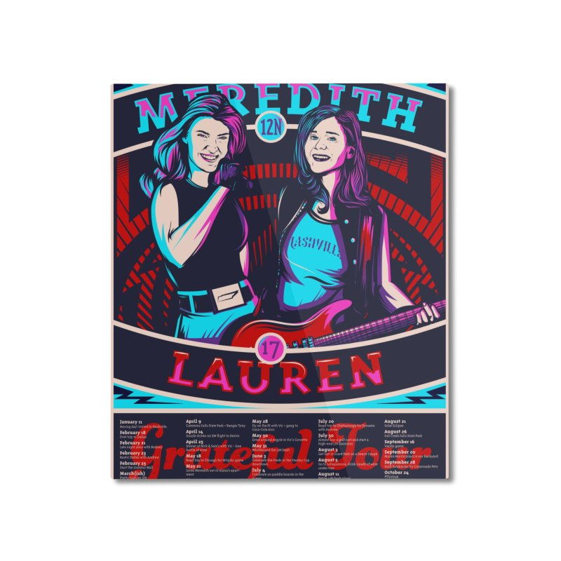Meredith and Lauren Pink Home Mounted Aluminum Print by Payback Penguin