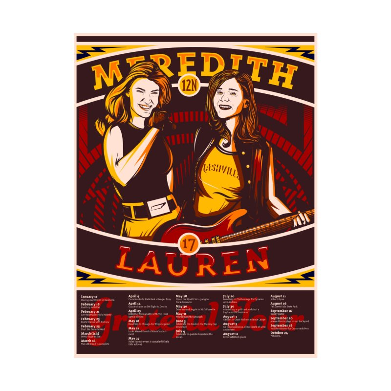 Meredith and Lauren Yellow by Payback Penguin