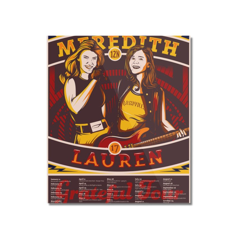 Meredith and Lauren Yellow Home Mounted Acrylic Print by Payback Penguin