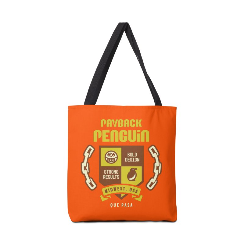 Payback Penguin Shield Accessories Tote Bag Bag by Payback Penguin