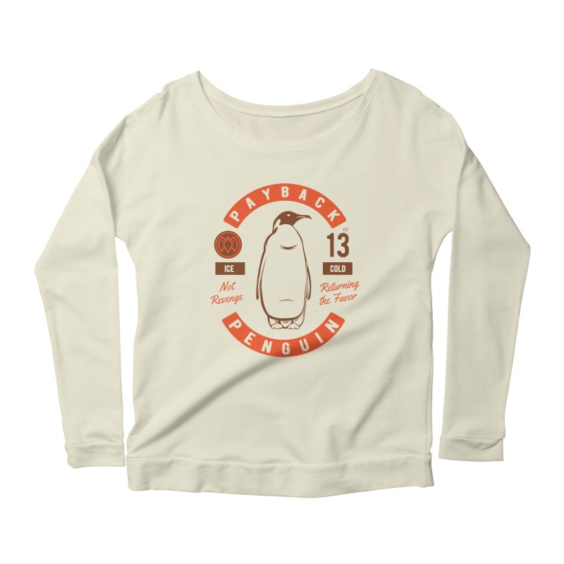 Payback Penguin Ice Cold - 2018 Women's Longsleeve Scoopneck  by Payback Penguin