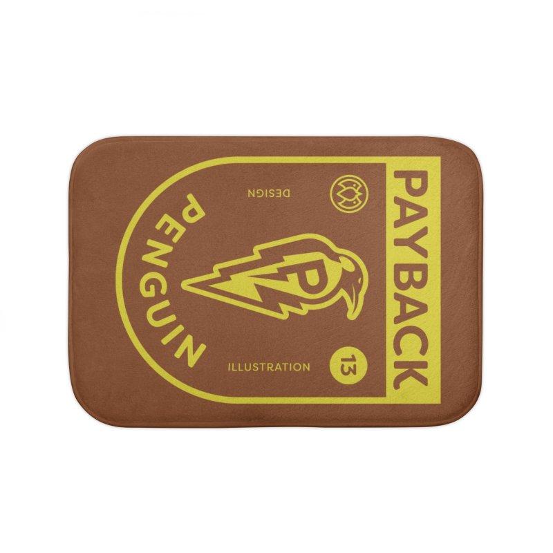 Payback Penguin Lightening Shield - Dark Home Bath Mat by Payback Penguin