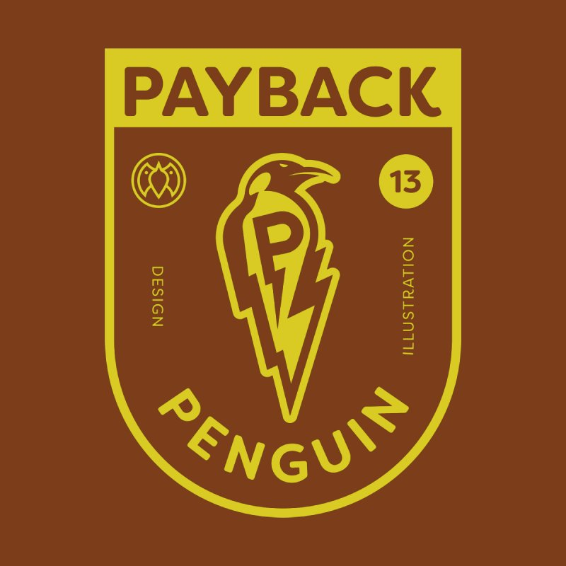 Payback Penguin Lightening Shield - Dark Men's T-Shirt by Payback Penguin