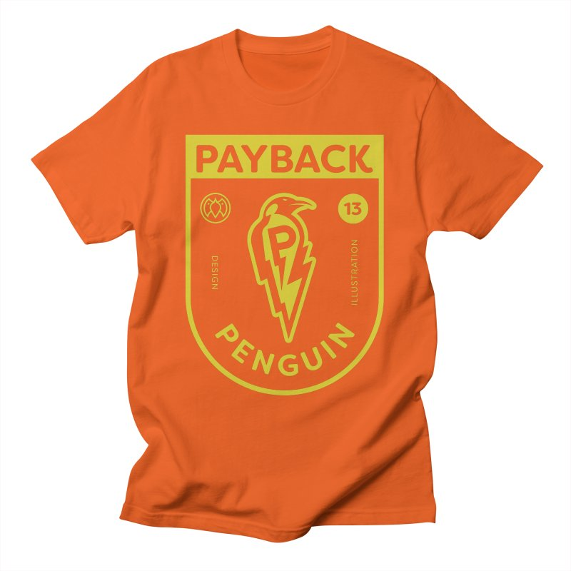 Payback Penguin Lightening Shield - Dark Men's T-Shirt by Payback Penguin
