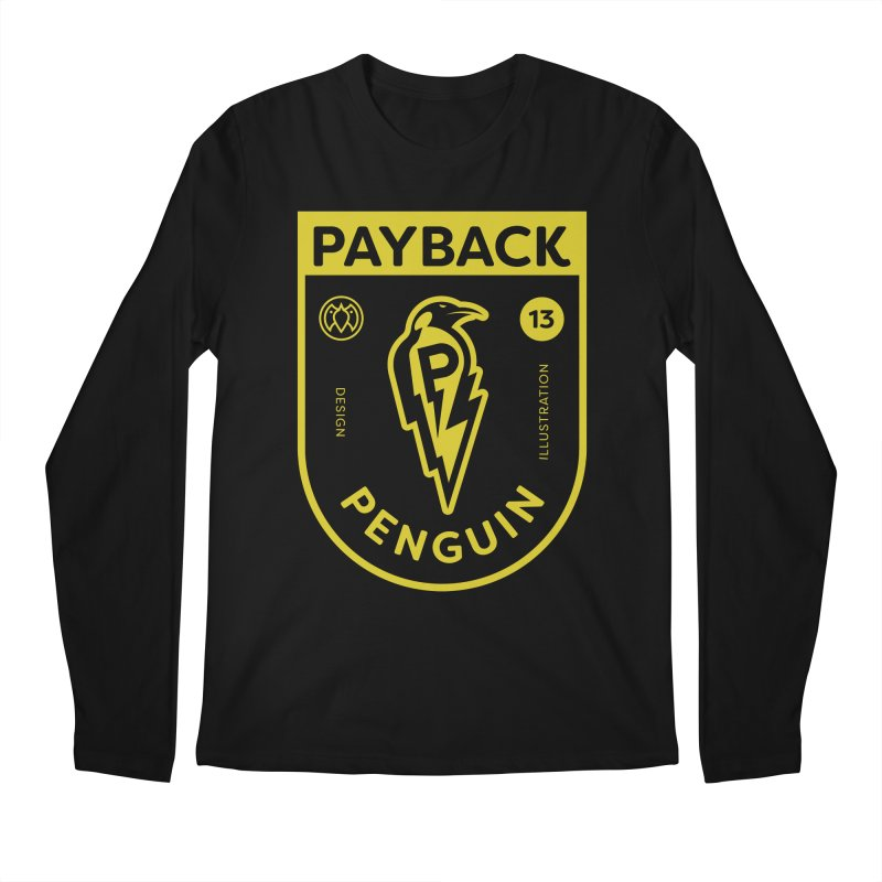 Payback Penguin Lightening Shield - Dark Men's Longsleeve T-Shirt by Payback Penguin