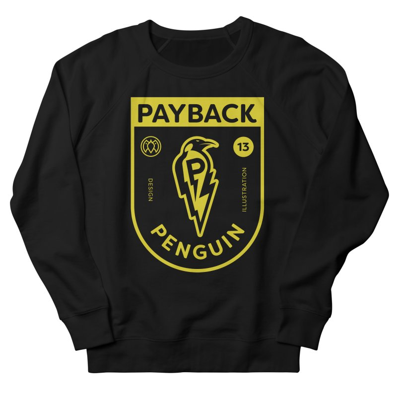 Payback Penguin Lightening Shield - Dark Men's French Terry Sweatshirt by Payback Penguin