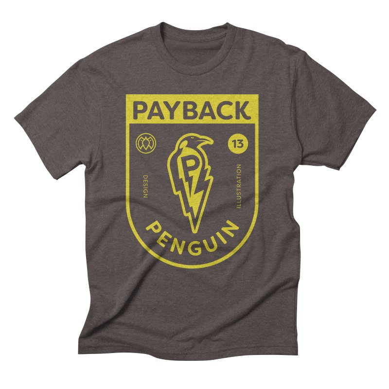 Payback Penguin Lightening Shield - Dark Men's Triblend T-Shirt by Payback Penguin