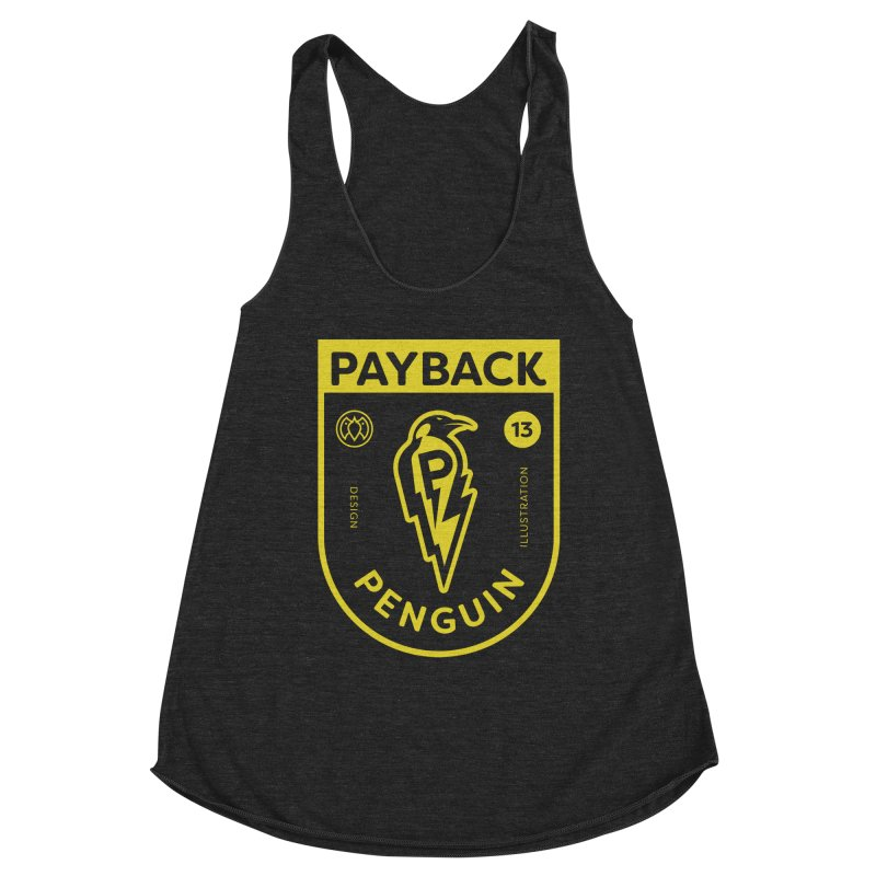 Payback Penguin Lightening Shield - Dark Women's Tank by Payback Penguin
